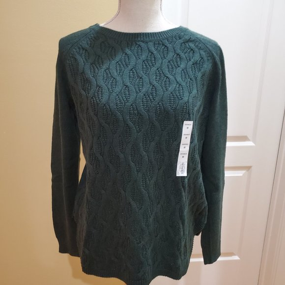 NWT Sonoma Womans Fancy Cable knit sweater